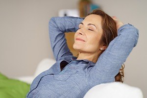 Patient relaxing thanks to oral conscious sedation dentistry